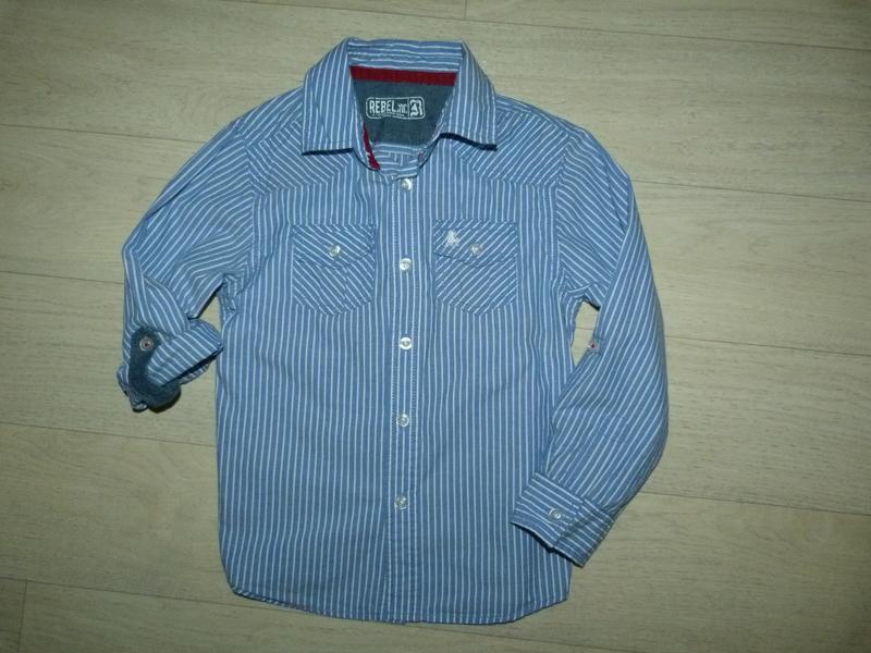 Полосатая рубашка rebel 6-7 лет