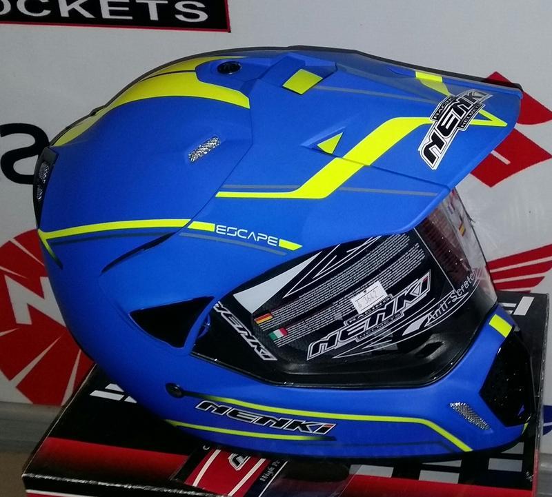Шлем (мотард) NENKI MATTE BLUE
