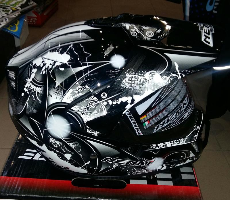 Шлем (мотард) NENKI Black&White