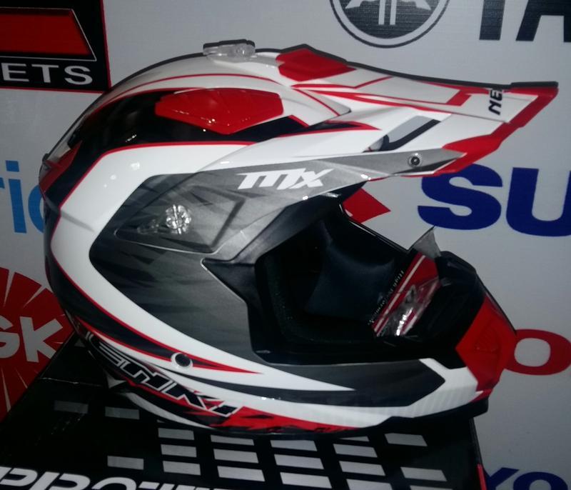 Шлем (кроссовый) NENKI White&Black red