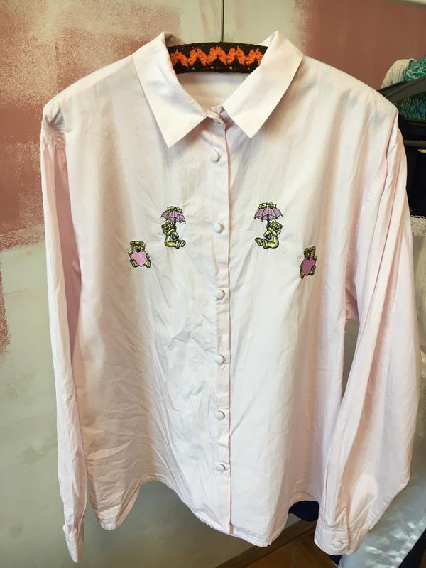 Милая рубашка в полоску  m-xl сорочка блузка