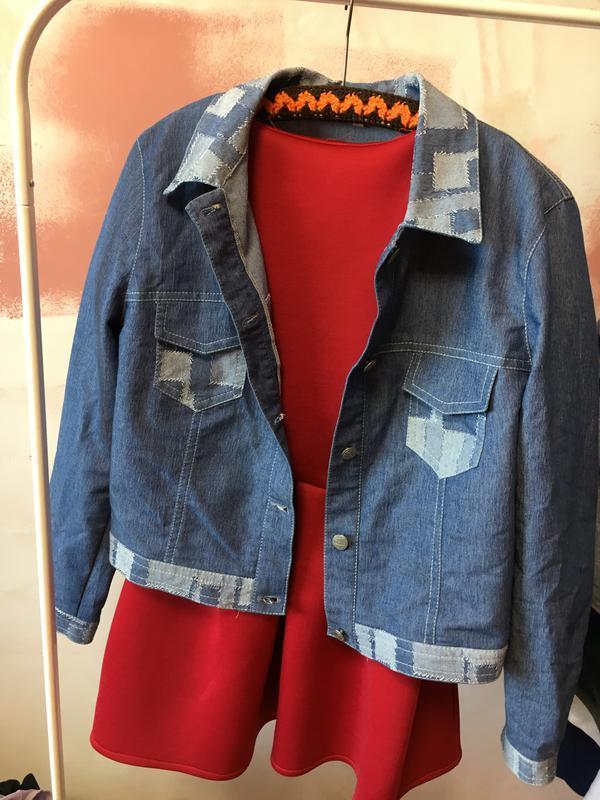 Джинсовка на пуговицах, куртка ветровка m-l джинсовая джинс