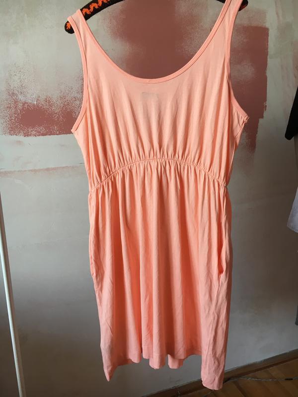 Лёгкое летнее платье с карманами на резинке