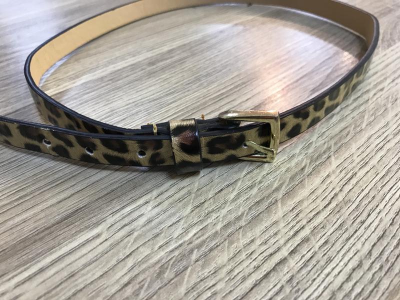 Леопардовый ремешок xxs-xs тоненький ремень