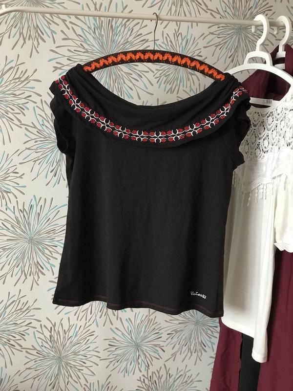 S-l oversize  футболка  кофточка блуза с вышивкой и спущенными...