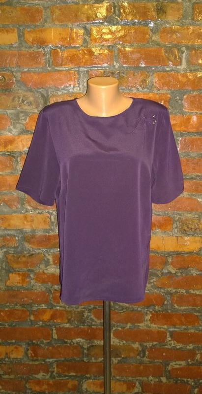 Блуза топ кофточка прямого кроя из мокрого шелка