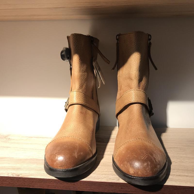 Кожаные ботинки сапожки последний размер stradivarius кожаные