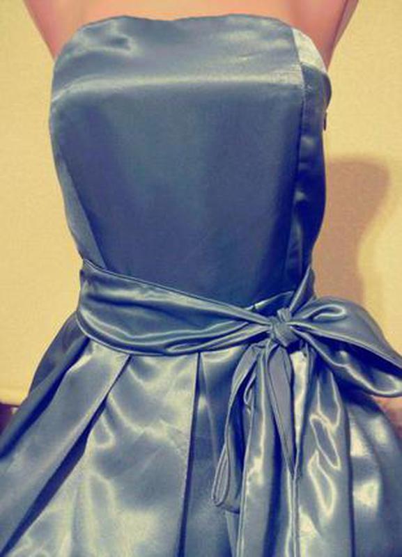 Вечернее выпускное платье бандо бюстье s,40-42,(8)/вечірня вип...