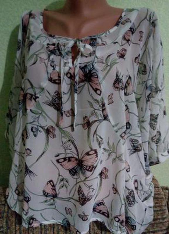 Очаровательная воздушная летняя блуза 48-50,(14),l-xl.