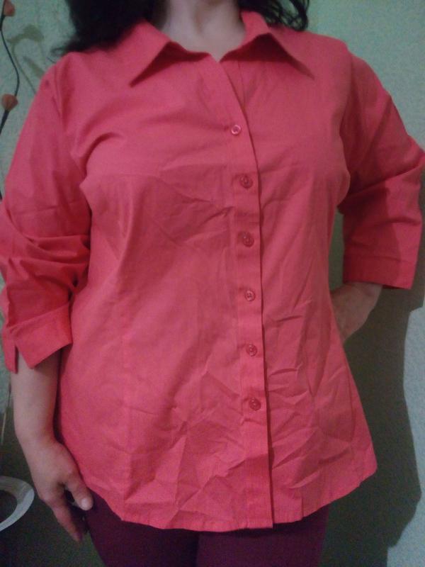 Хлопковая блуза блузка большого размера 56-58/літня блузка вел...