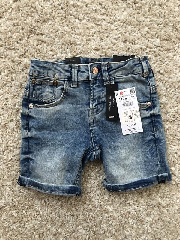 Джинсовые шорты reserved на мальчика 110 см , 4-5 лет
