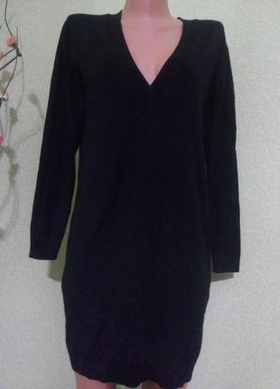 Трикотажное вязаное платье m-l,44-46,10-12 uk,evr 38-40