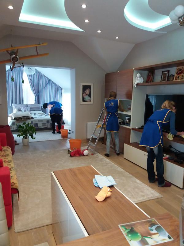 Генеральная уборка 3х комн квартиры 65-75 м кв
