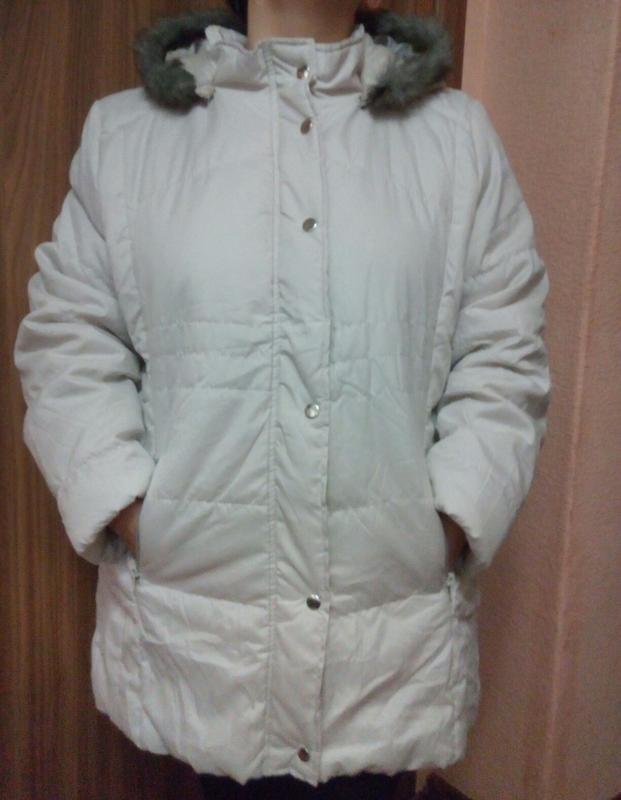 Демисезонная куртка с капюшоном большого размера 52-54,18-20 uk