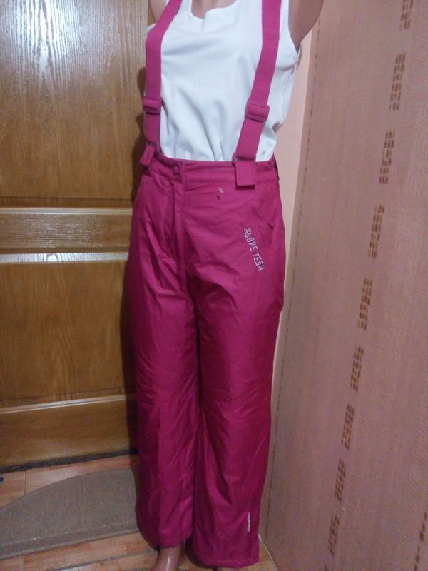 Зимние лыжные штаны для девочки рост 140-146