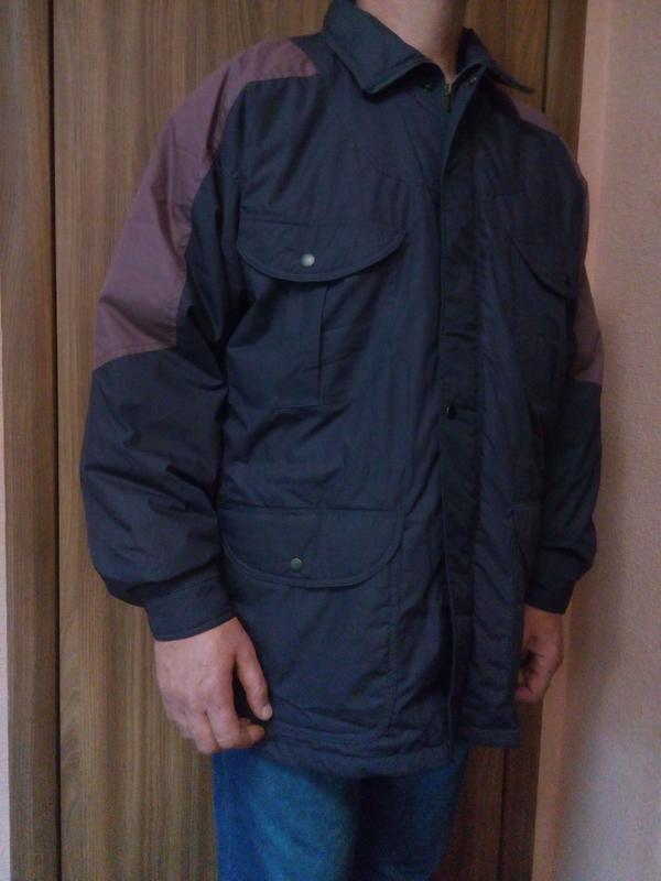 Мужская куртка на синтепоне большого размера 56-58