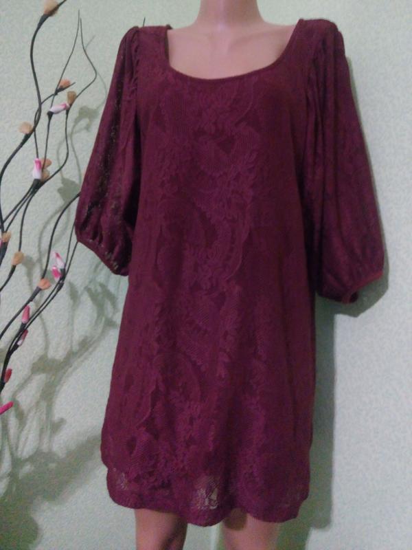 Кружевное платье туника 48-50 dorothy perkins
