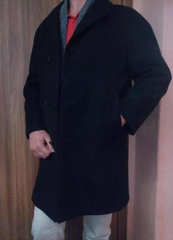 Стильное демисезонное пальто 52-54 шерстяное пальто