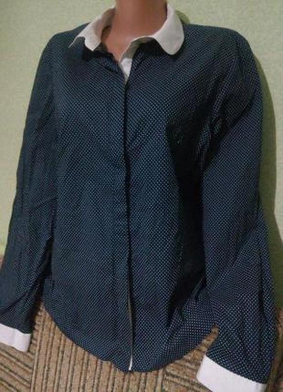 Стильная хлопковая рубашка блуза блузка 50-52 элегантная блуза