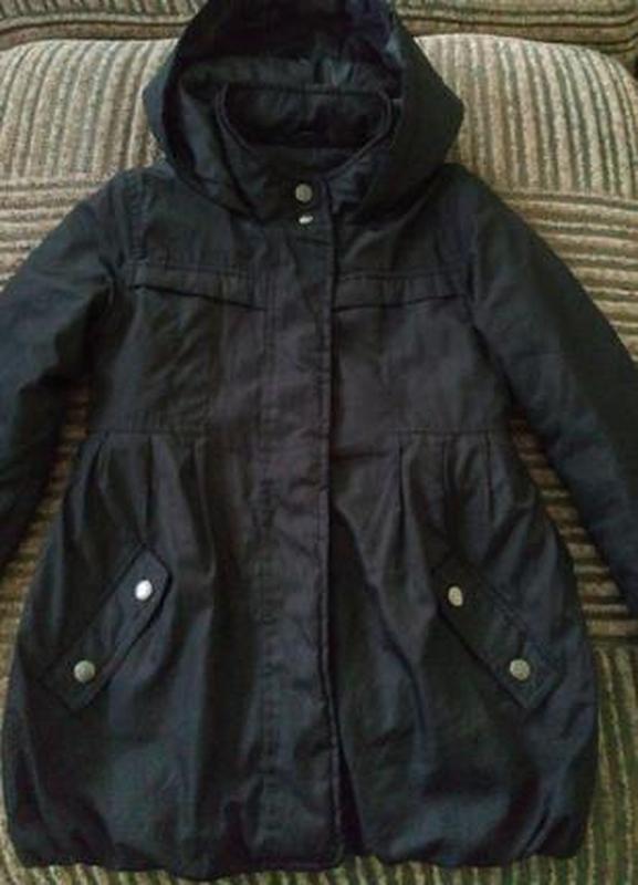 Демисезонное пальто куртка с капюшом для девочки 7-8 лет,рост ...