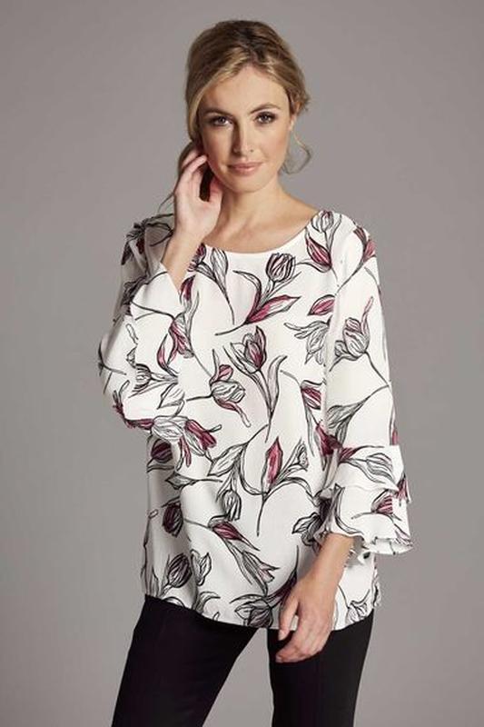 Очаровательная вискозная блуза блузка большого размера 56-58