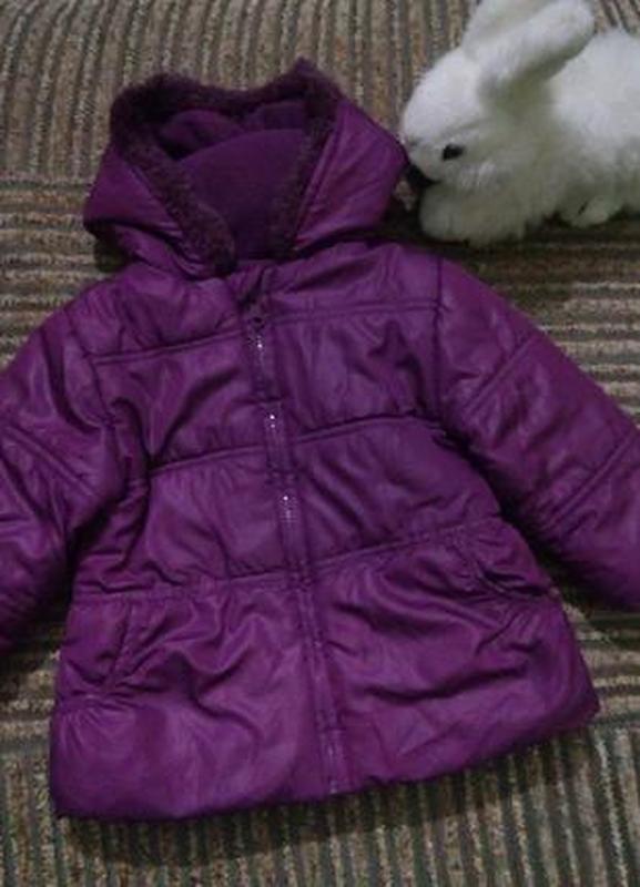 Легкая куртка для девочки 12-18 месяцев