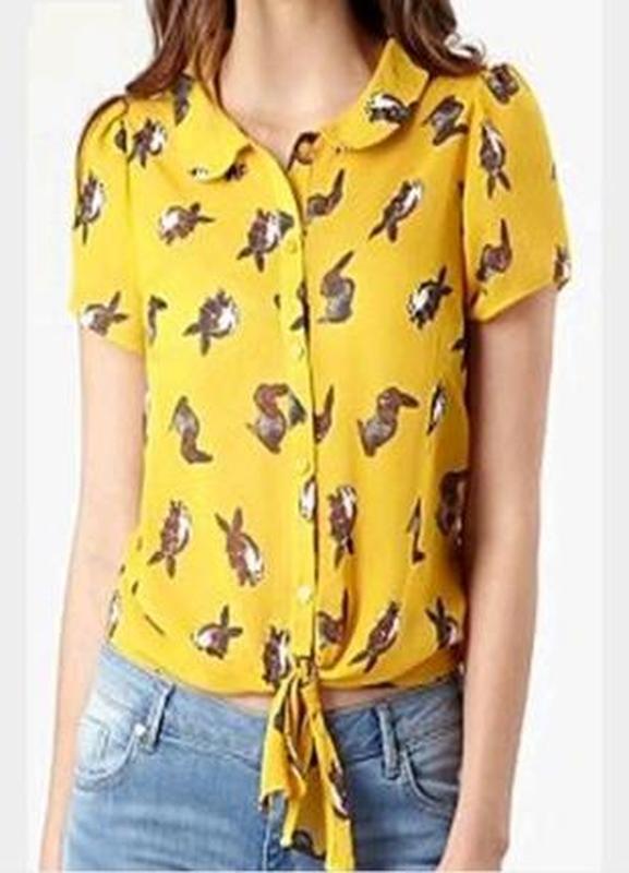 Очаровательная летняя блуза топ с кроликами