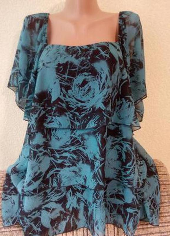 Шикарная летняя блуза большого размера 56-58