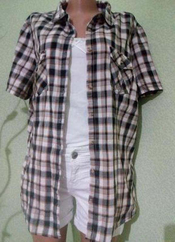 Хлопковая блуза рубашка 52-54