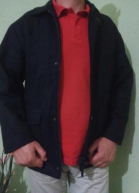 Демисезонная шерстяная куртка тренч 52-54