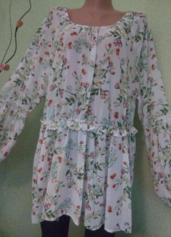 Очаровательная воздушная блуза блузка 50-52