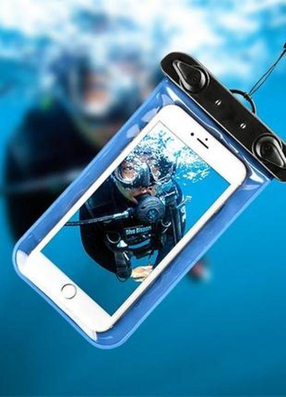 Чехол водонепроницаемый водозащитный для телефона подводный/да...