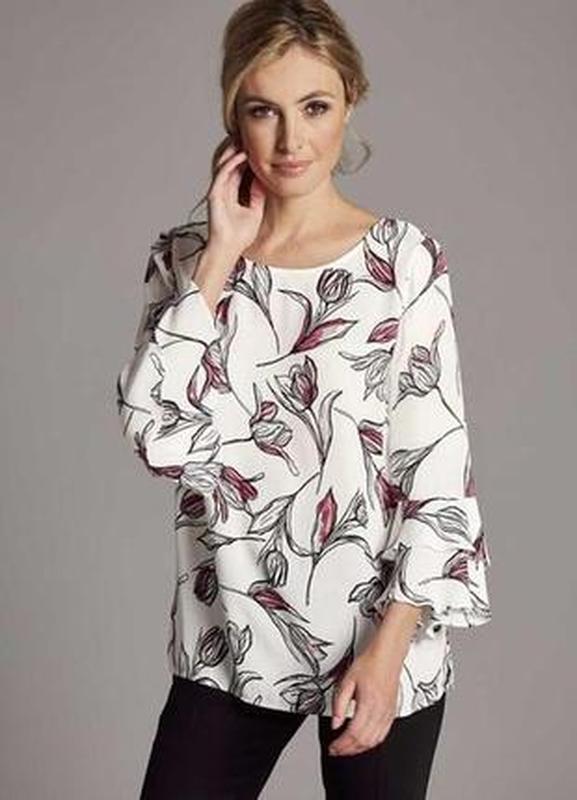 Очаровательная вискозная блуза большого размера