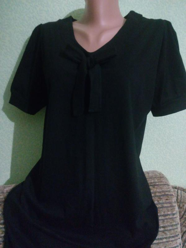 Хлопковое трикотажное черное платье