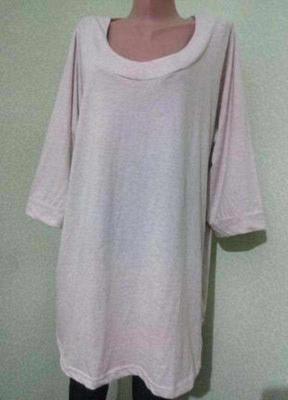 Трикотажная блуза туника большого размера 56-58,22-24 uk