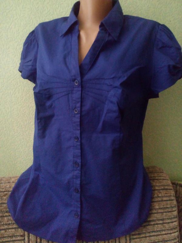 Хлопковая блуза большого размера