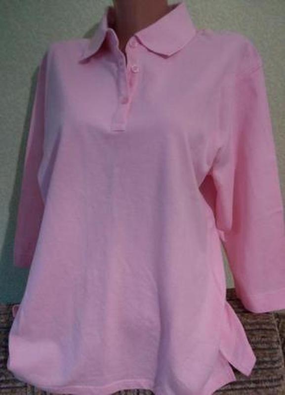 Хлопковая нежная блуза футболка с рукавом три четверти