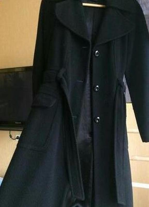 Стильное демисезонное шерстяное пальто h&m