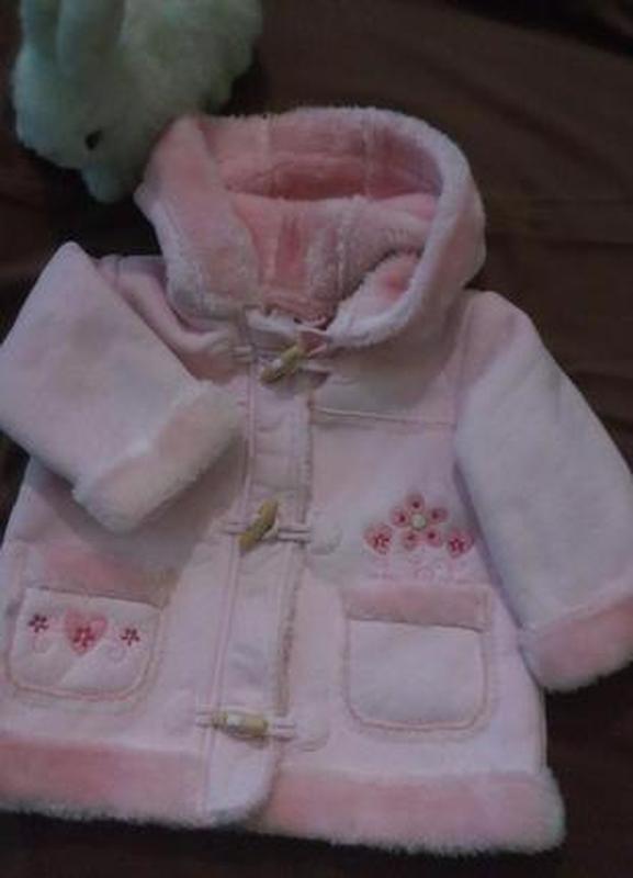 Нежная шубка шуба меховый дафлкот куртка для девочки 9-12 месяцев