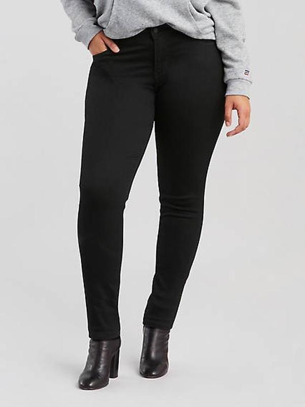 Черные джинсовые брюки скинни большого размера