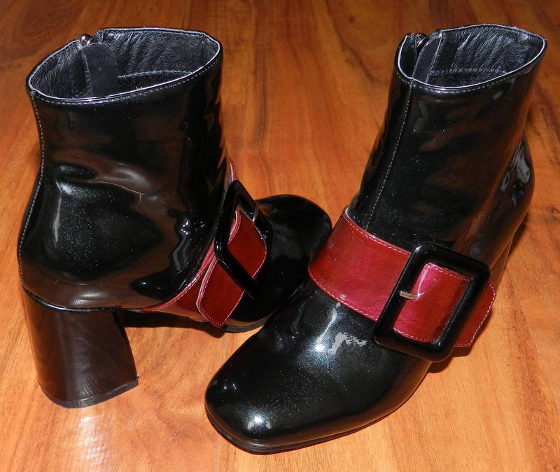 Heavenly feet! оригинальные, лакированные, эффектные ботинки н...