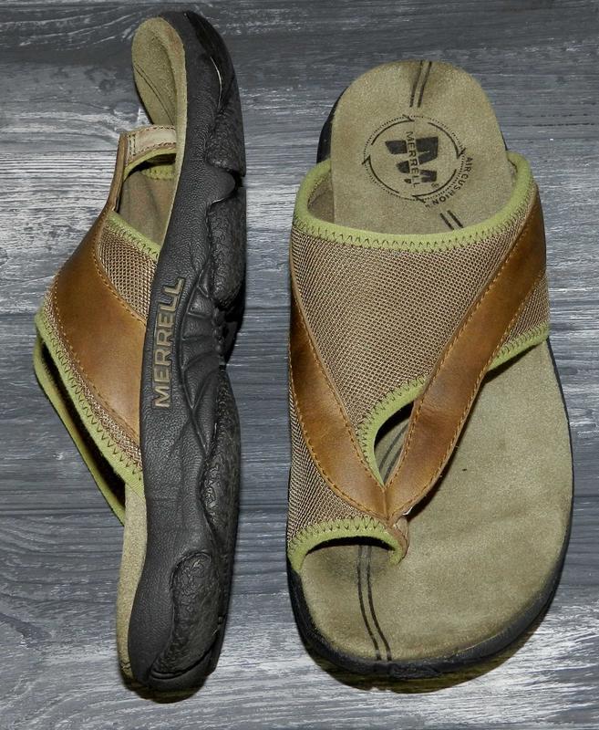 Merrell ! шикарные, стильные, удобные кожаные шлепки-вьетнамки