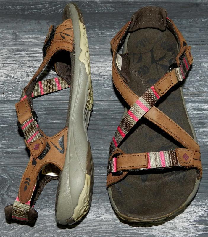Columbia ! шикарные, стильные, удобные кожаные сандалии-босоножки