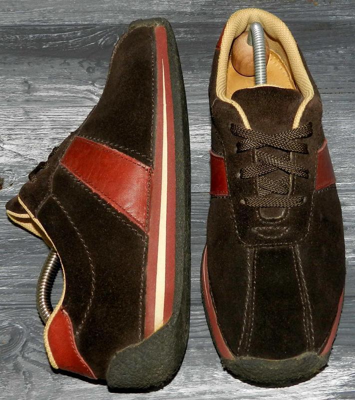 Clarks ! оригинальные, замшевые, стильные, удобные кроссовки