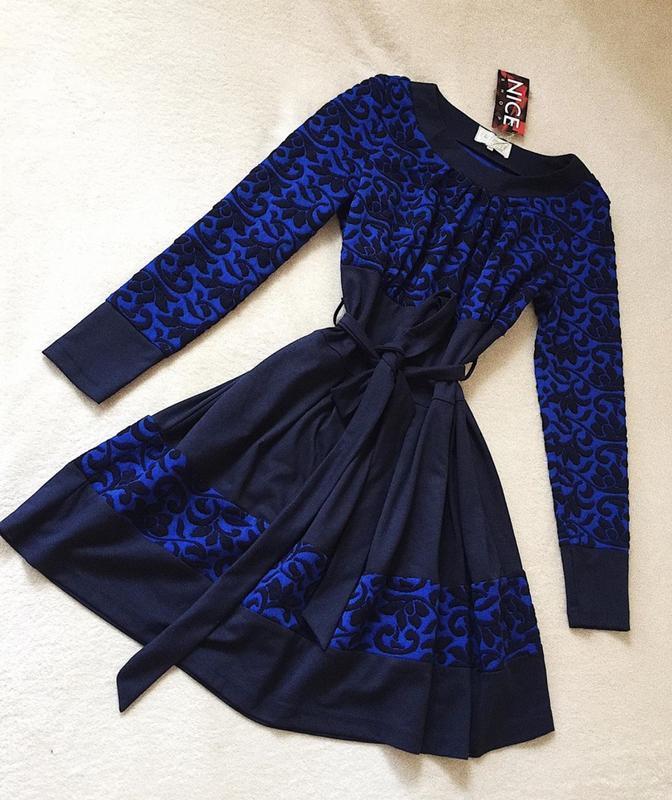 Теплое платье exclusive
