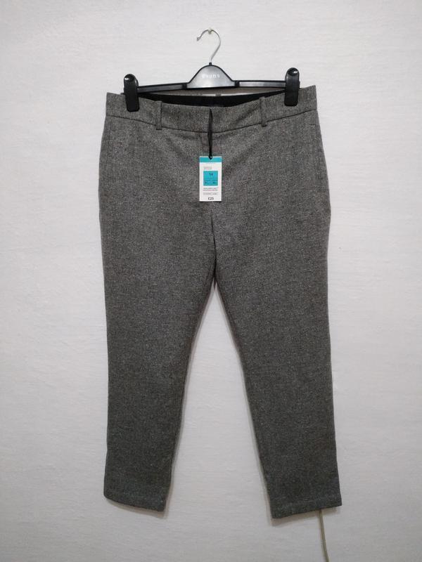 Стильные модные теплый шерстяные брюки большого размера