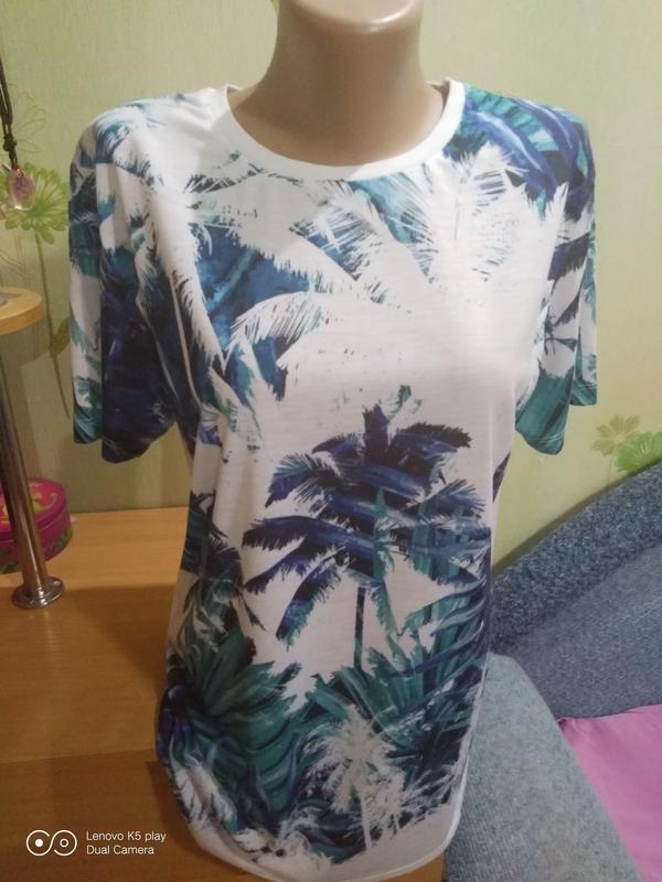 Классная натуральная футболка высокой l-xl-идеал-