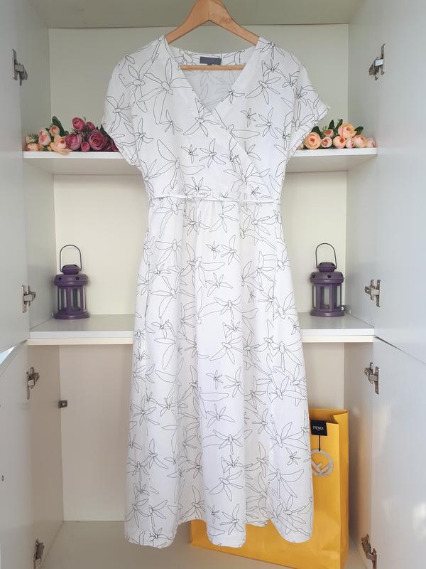 Льняное платье из льна sahara