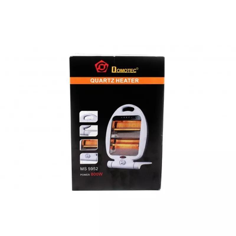 Обогреватель кварцевый инфракрасный Domotec MS 5952 2 режима 800