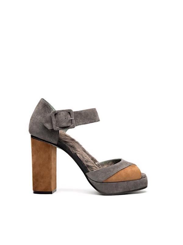 Роскошные замшевые туфли-босоножки с мехом paola d'arcano, италия
